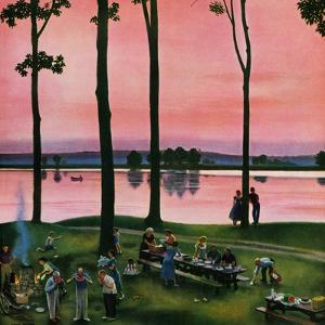 """Evening Picnic"", August 18, 1951 by John Falter"