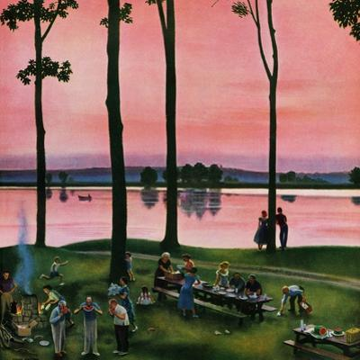"""Evening Picnic"", August 18, 1951 by John Falter"