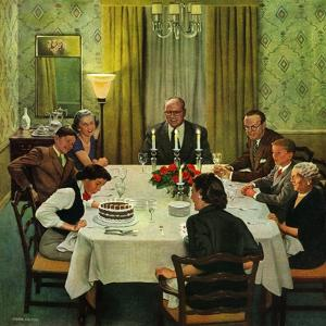 """Family Birthday Party"", March 15, 1952 by John Falter"