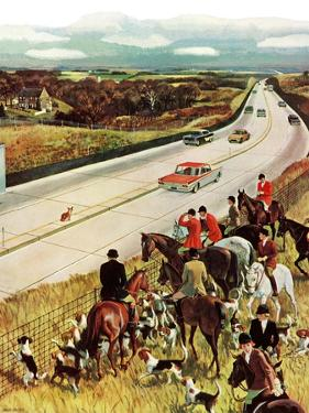 """Foxhunters Outfoxed,"" December 2, 1961 by John Falter"