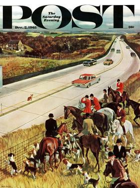 """Foxhunters Outfoxed,"" Saturday Evening Post Cover, December 2, 1961 by John Falter"