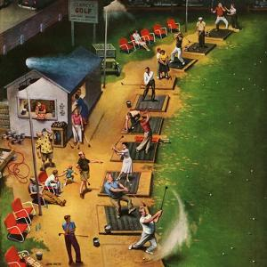 """Golf Driving Range"", July 26, 1952 by John Falter"