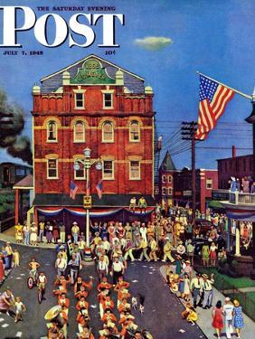 """""""Independence Parade,"""" Saturday Evening Post Cover, July 7, 1945 by John Falter"""
