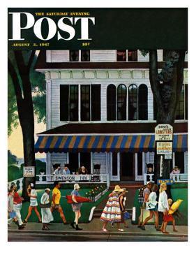 """""""Inn in Ogunquit,"""" Saturday Evening Post Cover, August 2, 1947 by John Falter"""