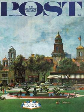 """Kansas City,"" Saturday Evening Post Cover, September 23, 1961 by John Falter"