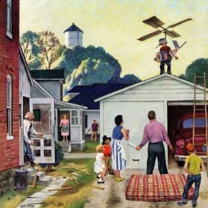 """Learning to Fly"", June 20, 1953 by John Falter"