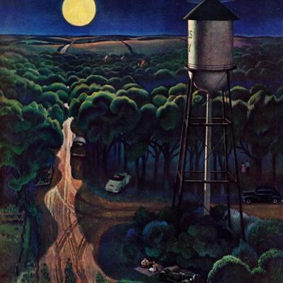 """Lovers' Lane, Falls City, Nebraska,"" May 24, 1947 by John Falter"
