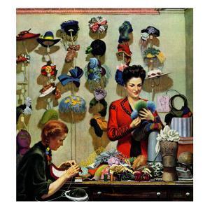 """Millinery Shop,"" March 10, 1945 by John Falter"