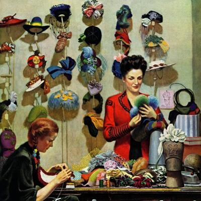 """""""Millinery Shop,"""" March 10, 1945"""