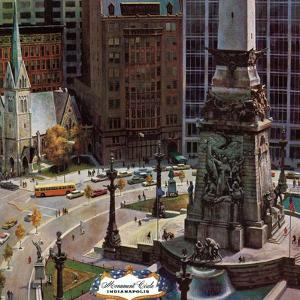 """Monument Circle,"" October 28, 1961 by John Falter"