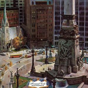 """Monument Circle,"" October 28, 1961 by John Falter"