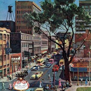 """Peachtree Street,"" June 25, 1960 by John Falter"