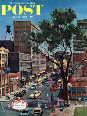 """""""Peachtree Street,"""" Saturday Evening Post Cover, June 25, 1960 by John Falter"""