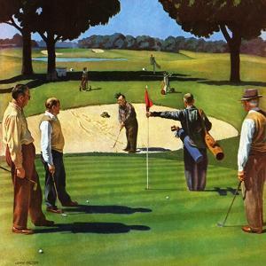 """Sand Trap,"" July 3, 1948 by John Falter"