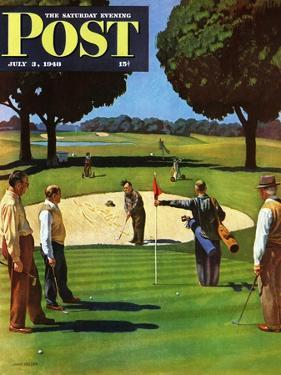 """Sand Trap,"" Saturday Evening Post Cover, July 3, 1948 by John Falter"
