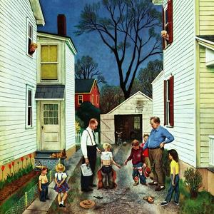 """Shaking Hands after the Fight"", May 5, 1951 by John Falter"