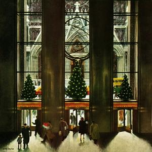 """St. Patrick's Cathedral at Christmas,"" December 3, 1949 by John Falter"