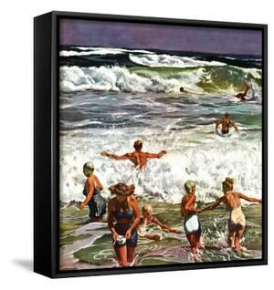 """Surf Swimming,"" August 14, 1948 by John Falter"