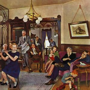 """Thanksgiving Flute Performance,"" November 30, 1946 by John Falter"