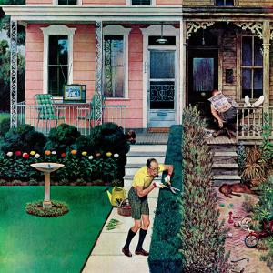 """Tidy and Sloppy Neighbors,"" July 1, 1961 by John Falter"