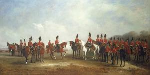 A Review of the 16th (The Queen's) Light Dragoons, 1851 by John Ferneley