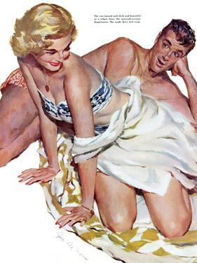 "Roadhouse Woman  - Saturday Evening Post ""Leading Ladies"", December 1, 1951 pg.21 by John Fernie"