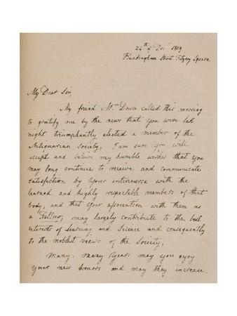 A letter from John Flaxman, 24 December 1819 (1904)