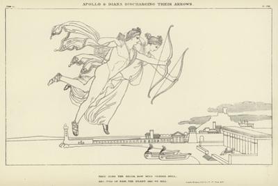 Apollo and Diana Discharging their Arrows by John Flaxman