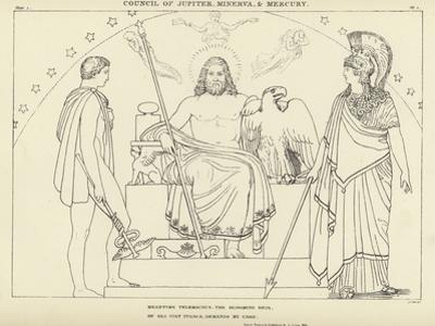Council of Jupiter, Minerva and Mercury by John Flaxman