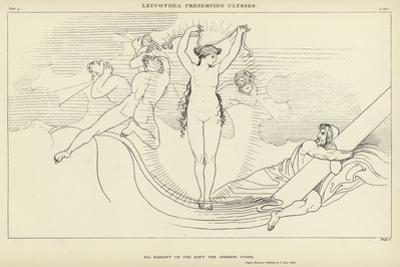 Leucothea Preserving Ulysses by John Flaxman