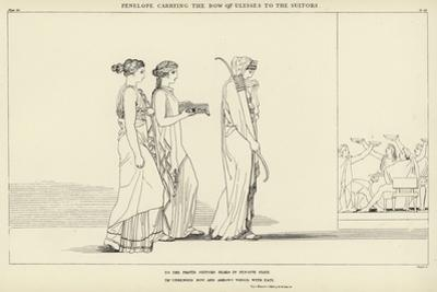 Penelope Carrying the Bow of Ulysses to the Suitors by John Flaxman