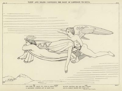 Sleep and Death Conveying the Body of Sarpedon to Lycia by John Flaxman