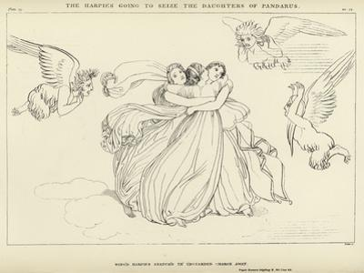 The Harpies Going to Seize the Daughters of Pandarus by John Flaxman