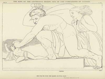 The King of the Lestrigens Seizing One of the Companions of Ulysses by John Flaxman