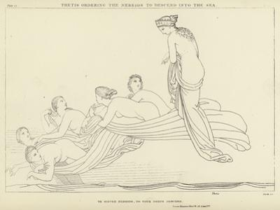 Thetis Ordering the Nereids to Descend into the Sea by John Flaxman