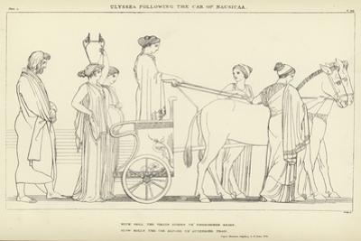 Ulysses Following the Car of Nausicaa by John Flaxman