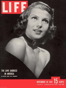 Actress Rita Hayworth, November 10, 1947 by John Florea
