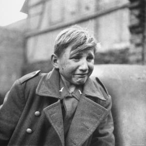Fearful 15 Year Old German Luftwaffe Crying After Being Taken Prisoner by American Forces by John Florea