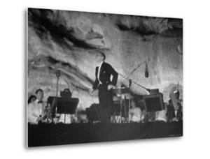 """Igor Stravinsky Bowing After His Ballet Suite, """"The Fairy's Kiss"""" at Red Rocks Amphitheater by John Florea"""