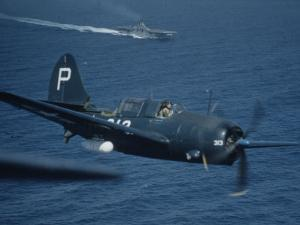 "Jet Carrier Landing: Navy's Jet Planes on Aircraft Carrier ""USS Boxer"" by John Florea"