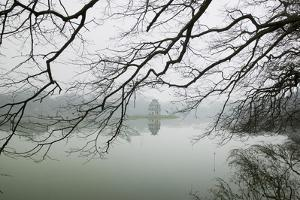 Hanoi Lake, Hanoi, North Vietnam, Pagoda and Trees by John Ford