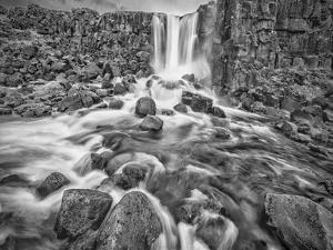 Iceland, Golden Circle, Oxarafoss by John Ford
