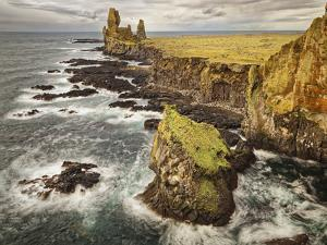 Iceland, Snaefellsnes Peninsula, Londrangar Cliffs by John Ford