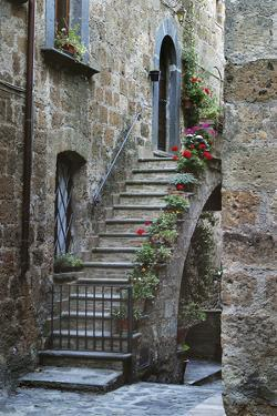 Italy, Civita de Bagnoregio Staircase by John Ford