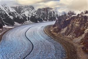 USA, Alaska, Denali, Mount McKinley Ruth Glacier by John Ford