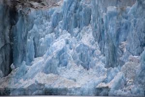 USA, Alaska, Inside Passage, Glacier Calving by John Ford