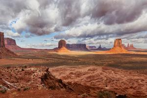 USA, Arizona, Monument Valley, under Clouds by John Ford