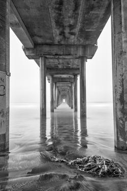 USA, California, La Jolla, Scripps Pier, Sunrise by John Ford