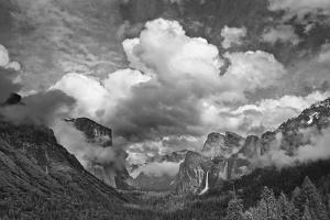USA, California, Yosemite, Bridalveil Falls by John Ford