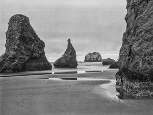 USA, Oregon, Coast Bandon Beach Monoliths by John Ford